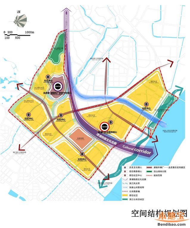 浦口火车站片区规划图-江北新区浦口火车站片区规划 图