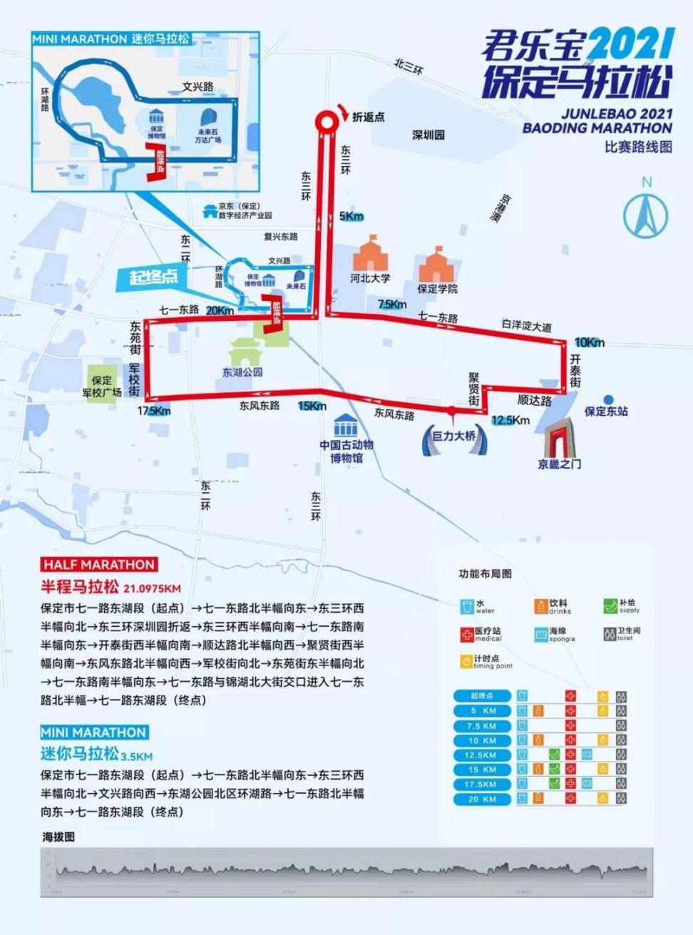 2021保定马拉松赛道调整图