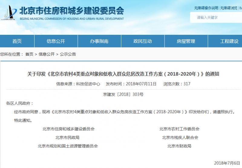 2018北京农村4类重点对象和低收入群众危房改造补贴申请攻略