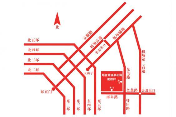 北京郁金香温泉摩锐水世界怎么去?(公交地铁+自驾)