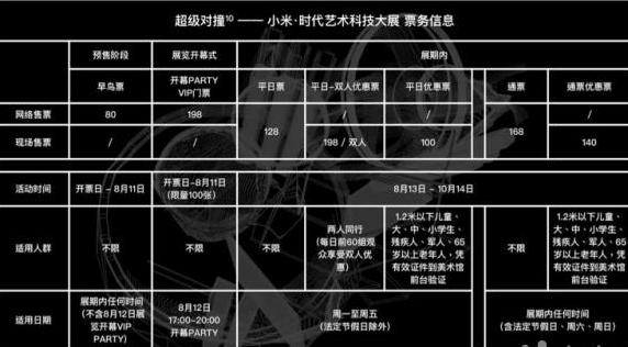 2018北京小米•时代艺术科技大展时间、亮点及门票信息