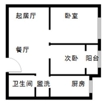 朝阳怡景园公租房户型图一览