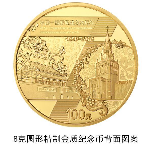 中国-俄罗斯建交70周年金银纪念币发行公告原文