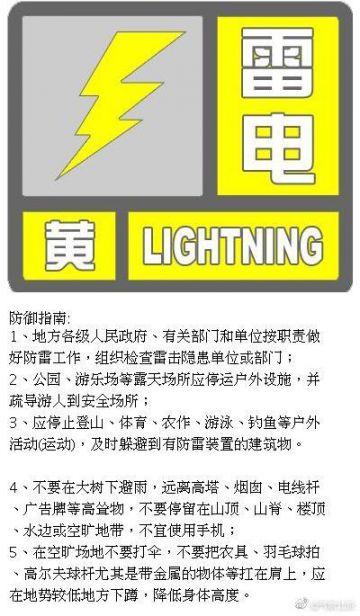 8月2日北京高挂暴雨雷电双预警 雷雨天气将持续至中午