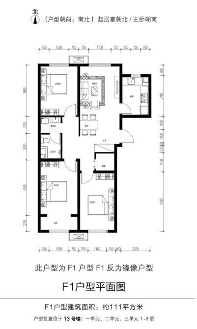 2020年北京房山区金林嘉苑共有房第二次申购房源户型图