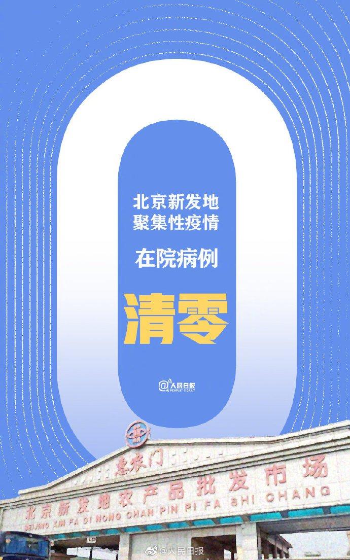 8月6日北京新发地疫情在院病例清零