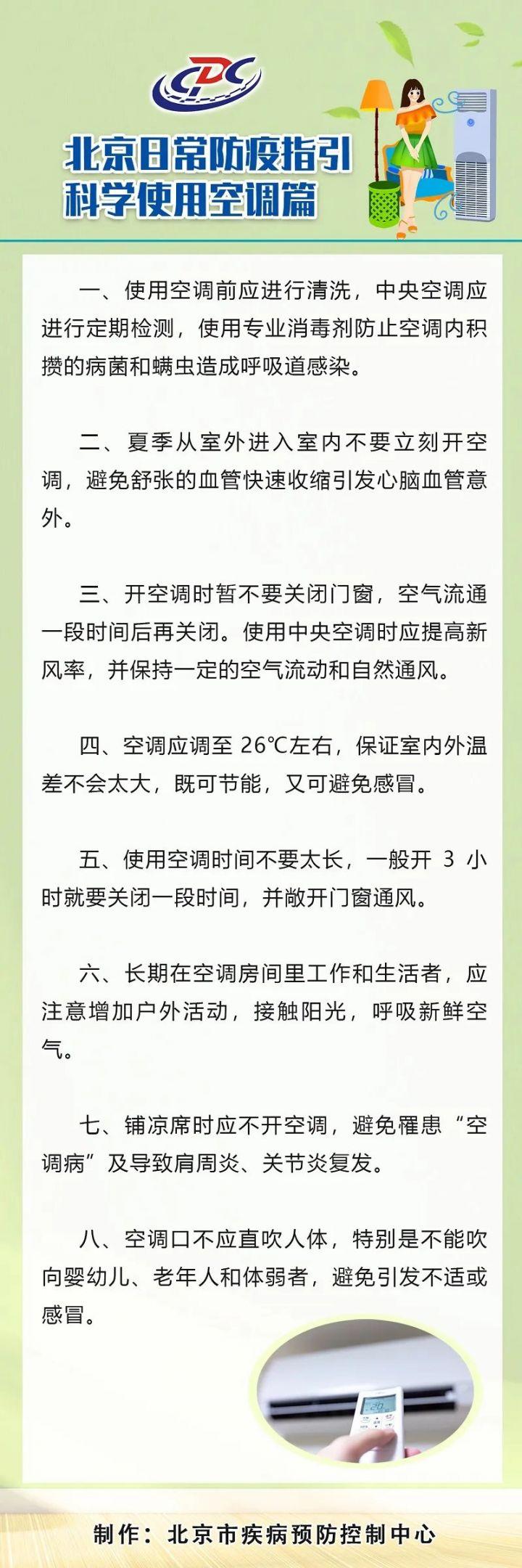 北京日常防疫指引——科学使用空调篇
