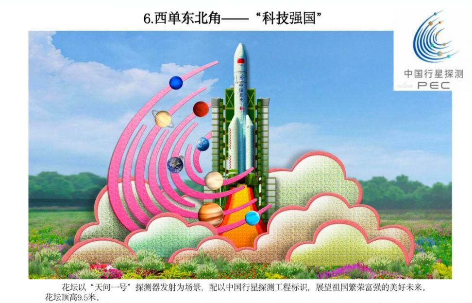 2020国庆北京西单主题花坛分布位置及效果图(图)