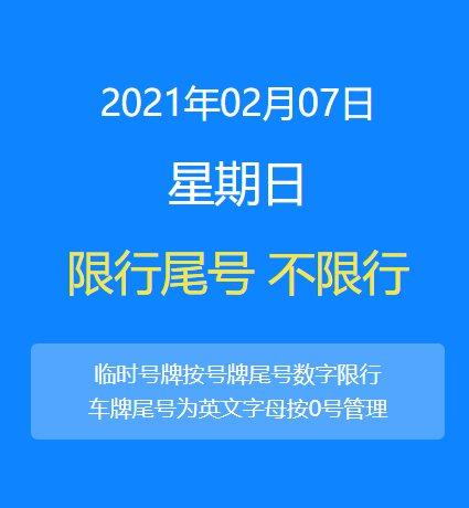 2021年2月7日北京限行规定(进京车辆+本地车辆)