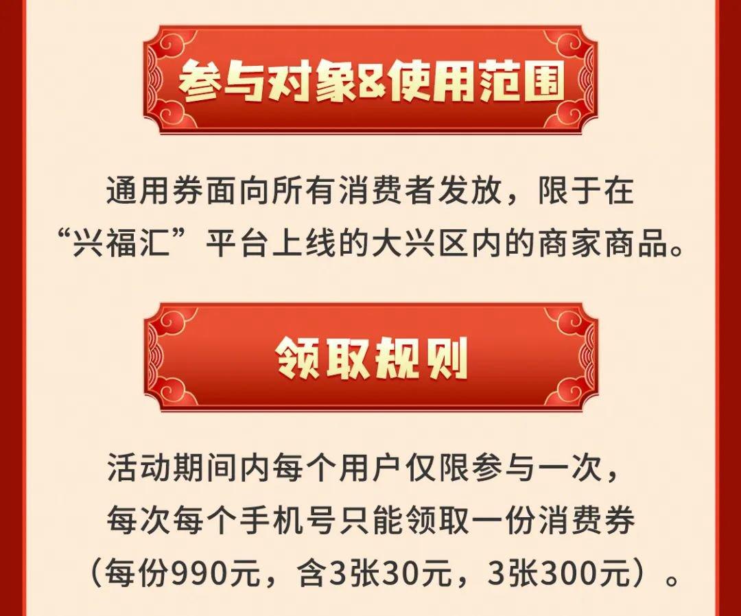 2021大兴春节消费券第六轮发放时间