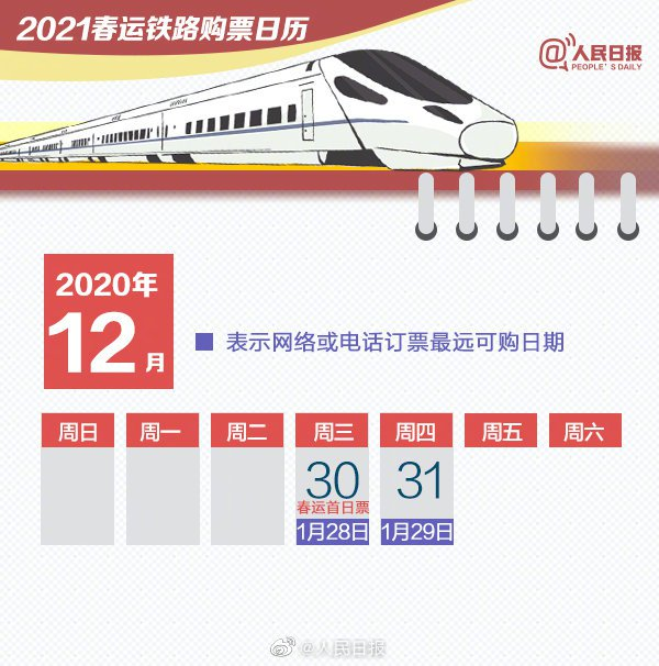 2021春運車票明起開售 重要搶票時間點一覽