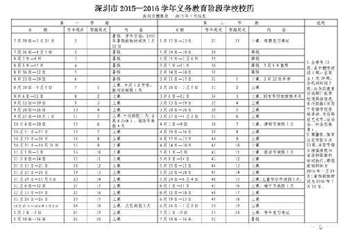 2016年深圳中小学放寒假时间-本地宝中小学书法教育部图片