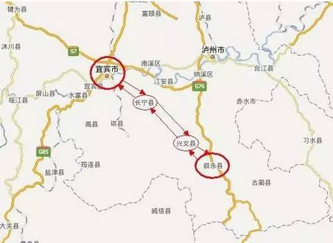 宜叙高速通行指南 线路图 收费标准 沿线景点