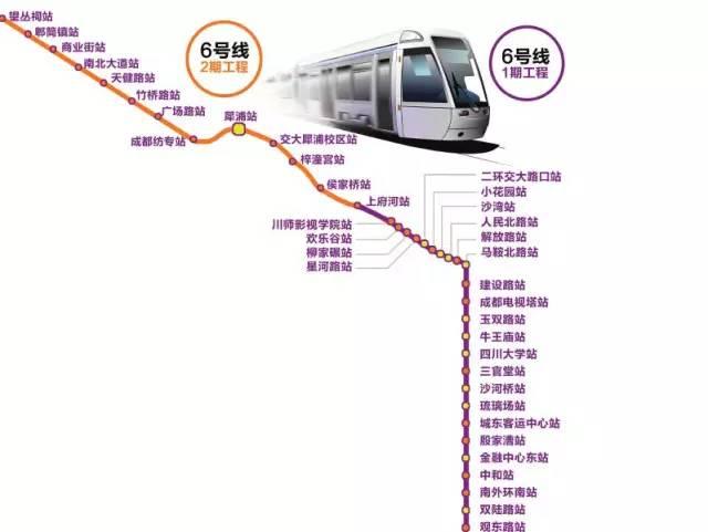成都地铁6号线最新消息(线路图+站点+通车时间
