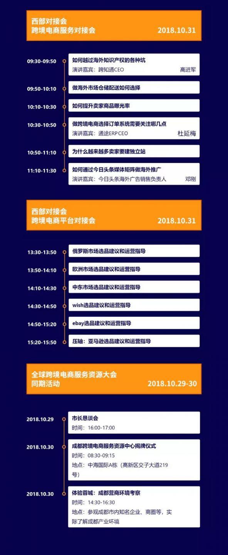 2018全球跨境电商服务资源大会(时间 地点 日程)