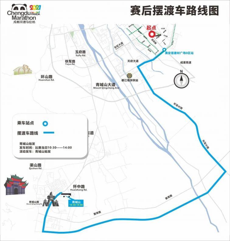 成都雙遺馬拉松2021擺渡車(時間 路線)