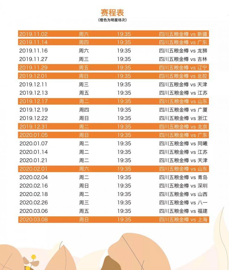 2019-2020赛季四川队CBA主场VS辽宁(时间 地点 门票)