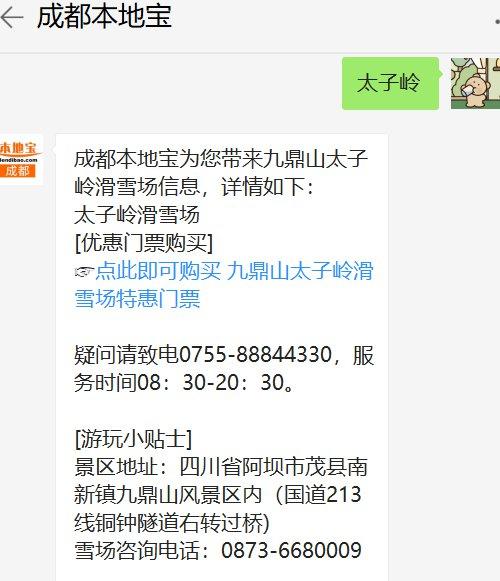 2019九鼎山太子岭滑雪场开放时间
