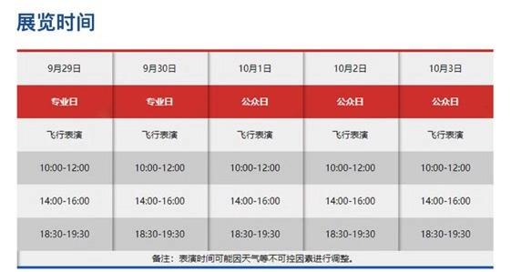 2019四川航展特技飞行表演时间表一览