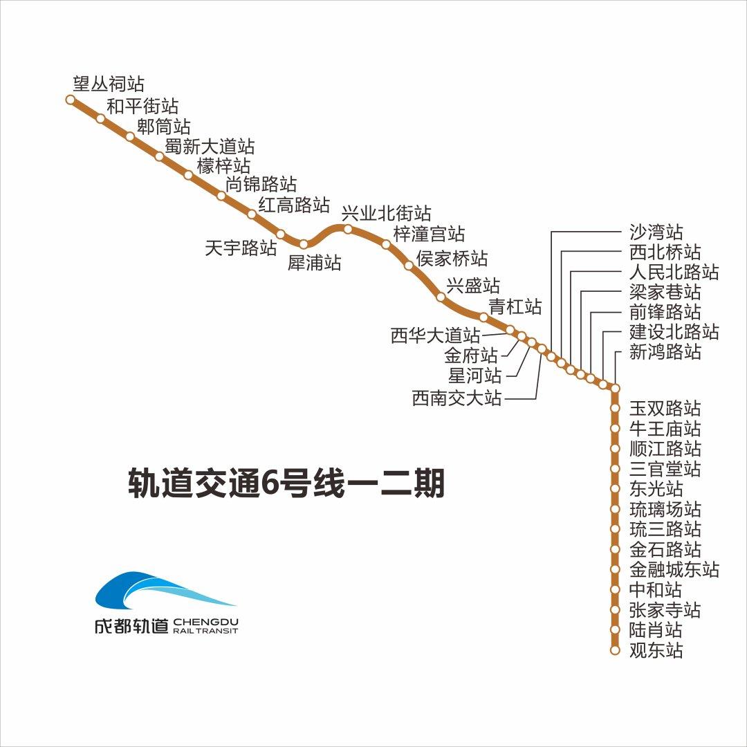 成都地鐵6號線一二三期首末班時刻表