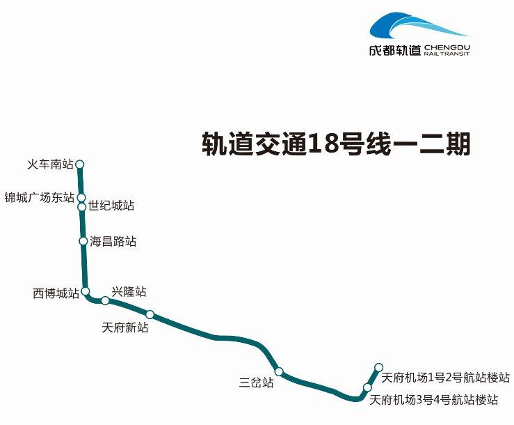 成都地鐵18號線一二期首末班時間