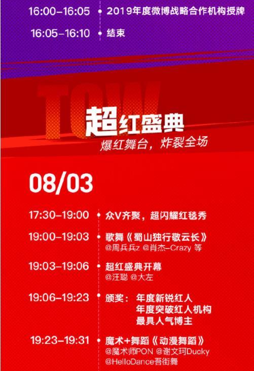 2019成都超级红人节(时间+地点+活动)