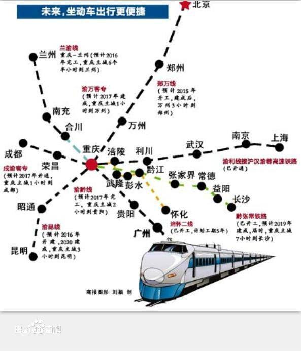 兰渝高铁停靠站点分布