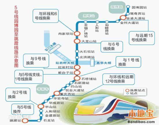 重庆轻轨5号线全线线路图-重庆地铁5号线规划图 线路走向图一览图片