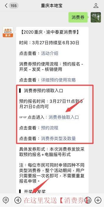 重庆第一轮消费券使用说明一览