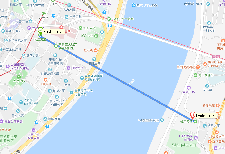 重庆长江索道在哪坐 怎么去?