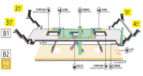重庆环线二郎站出口设置