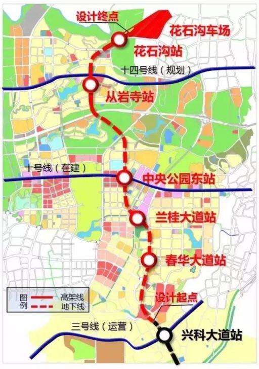 重庆轻轨9号线二期线路走向 经过哪些地方?