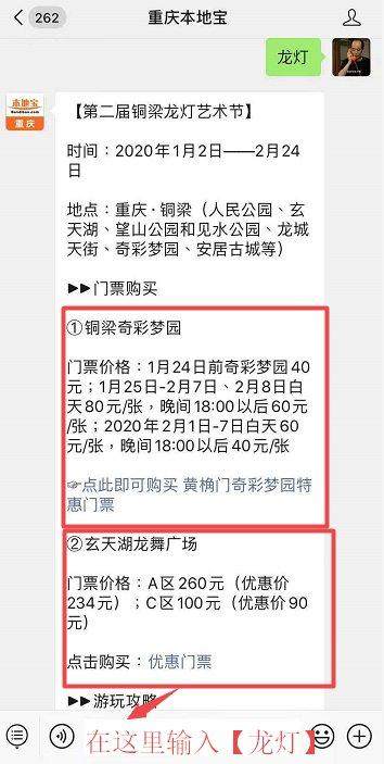2020重庆铜梁龙灯艺术节时间、地点、门票