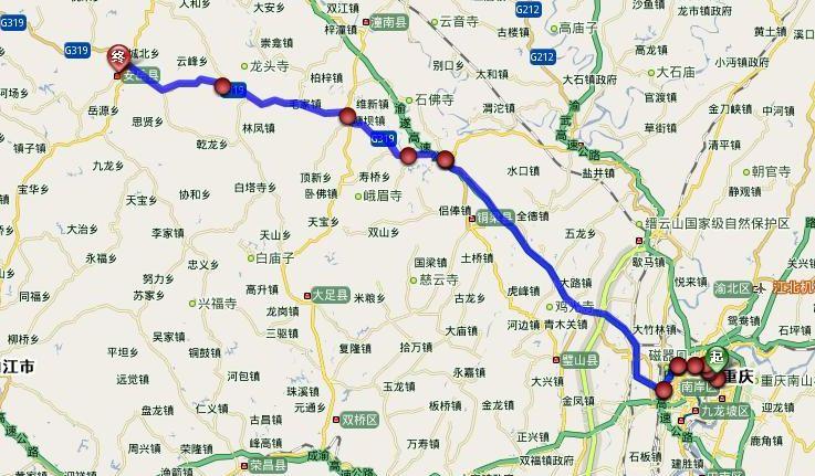渝长厦高铁线路图