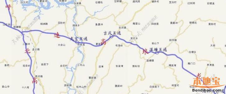 龙琅高速最新消息(通车时间+线路图+站点)