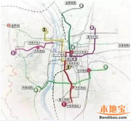 长沙BRT线路规划及线路图图片