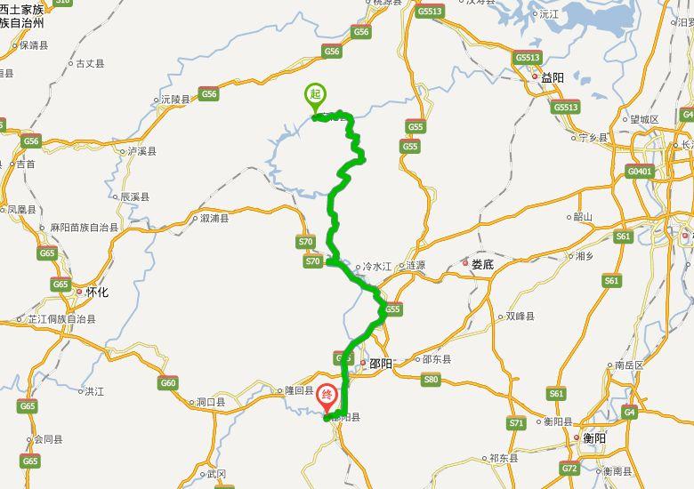 安邵高速公路地图走向详情