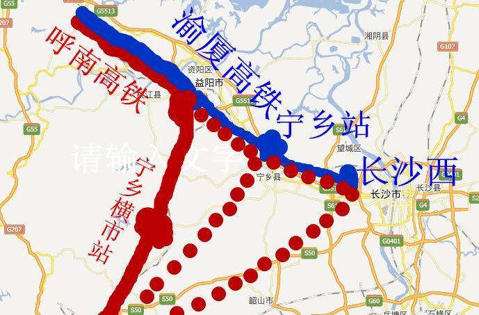 呼南高铁线路图图片