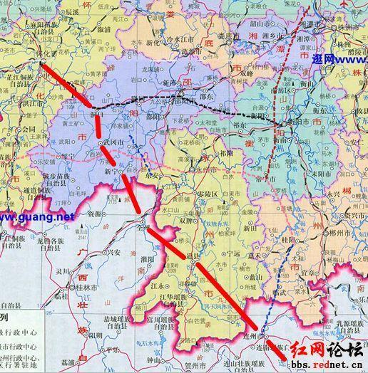 广清怀高铁规划路线