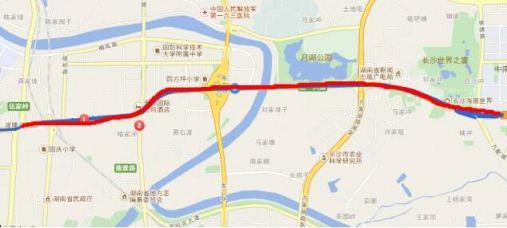 长沙湘府路地图走向详情