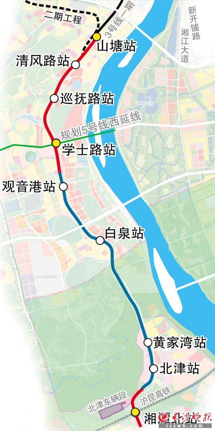 长株潭城际铁路西环线线路图(多图汇总)