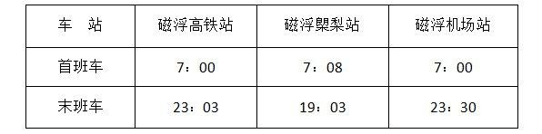 2020-2021跨年夜長沙磁浮快線運營時間臨時調整(附首末班車時間)