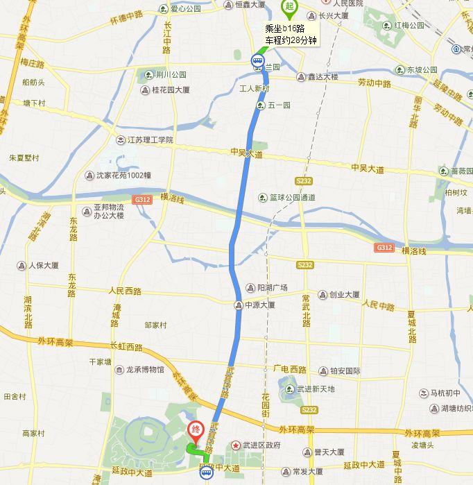 常州旅游地图 > 常州南大街到淹城春秋乐园怎么走