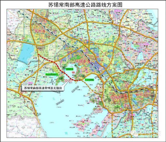 苏锡常南部高速公路地图走向详情