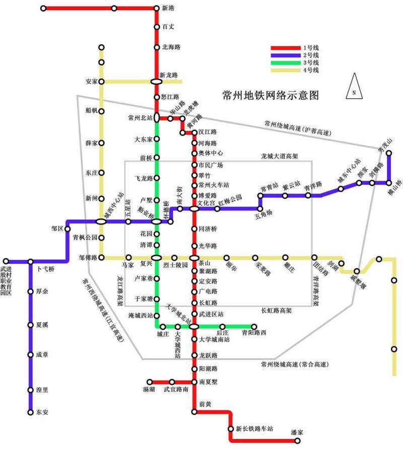 常州地铁1号线站点分布详情