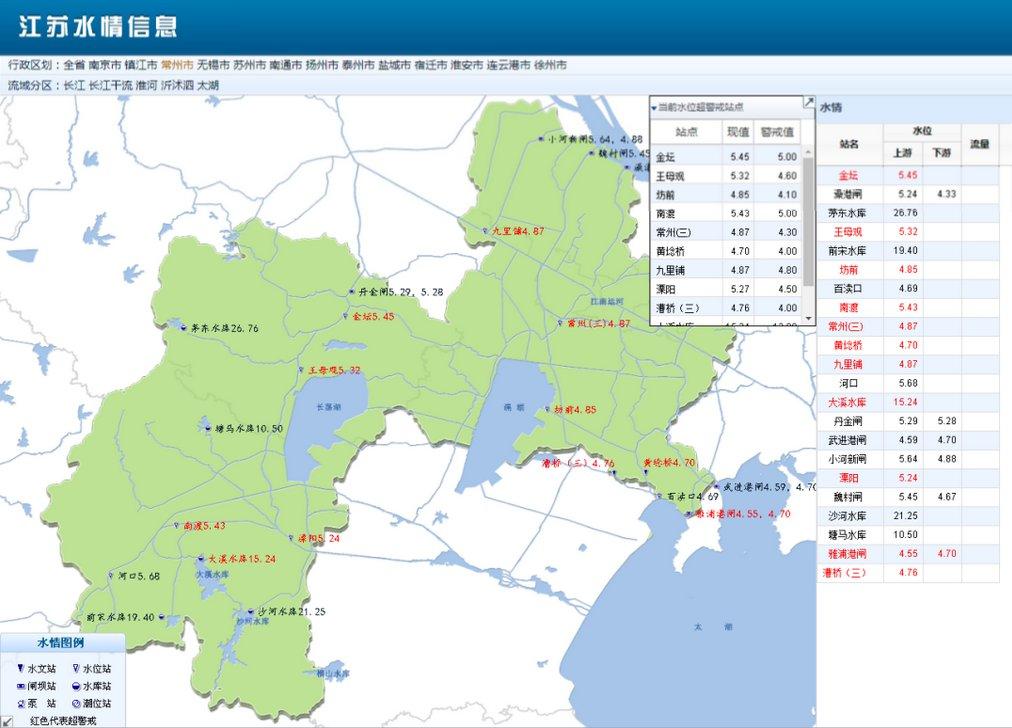 2020常州汛期水雨情信息(每日更新)
