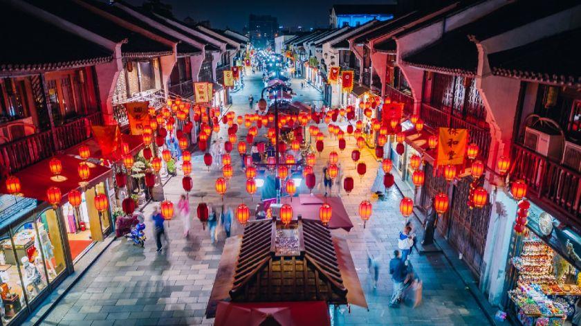 杭州清河坊街年俗活动