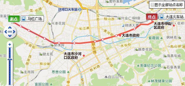 大連101路無軌電車線路、票價及站點信息