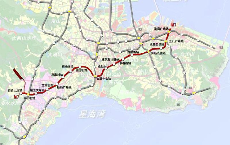 2015大连地铁7号线规划图片