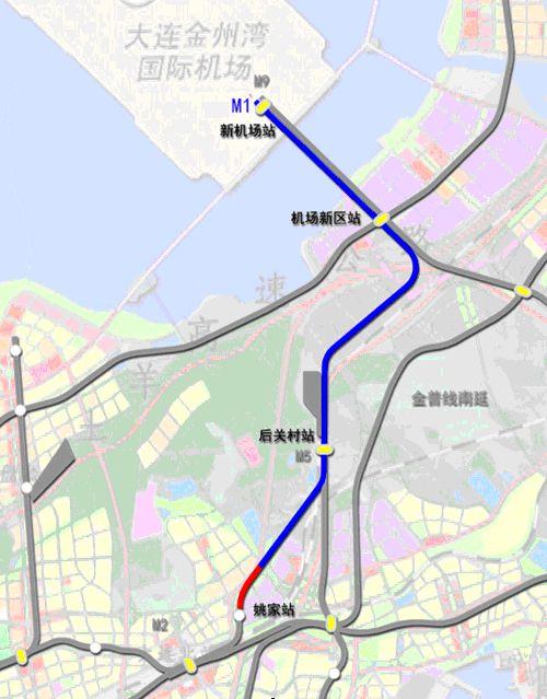 大连地铁1号线北延线站点总览